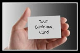 Business cards to market your business