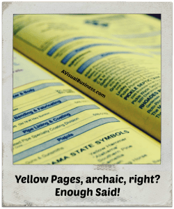 Get your website optimized or you'll be like a business lost in the yellow pages