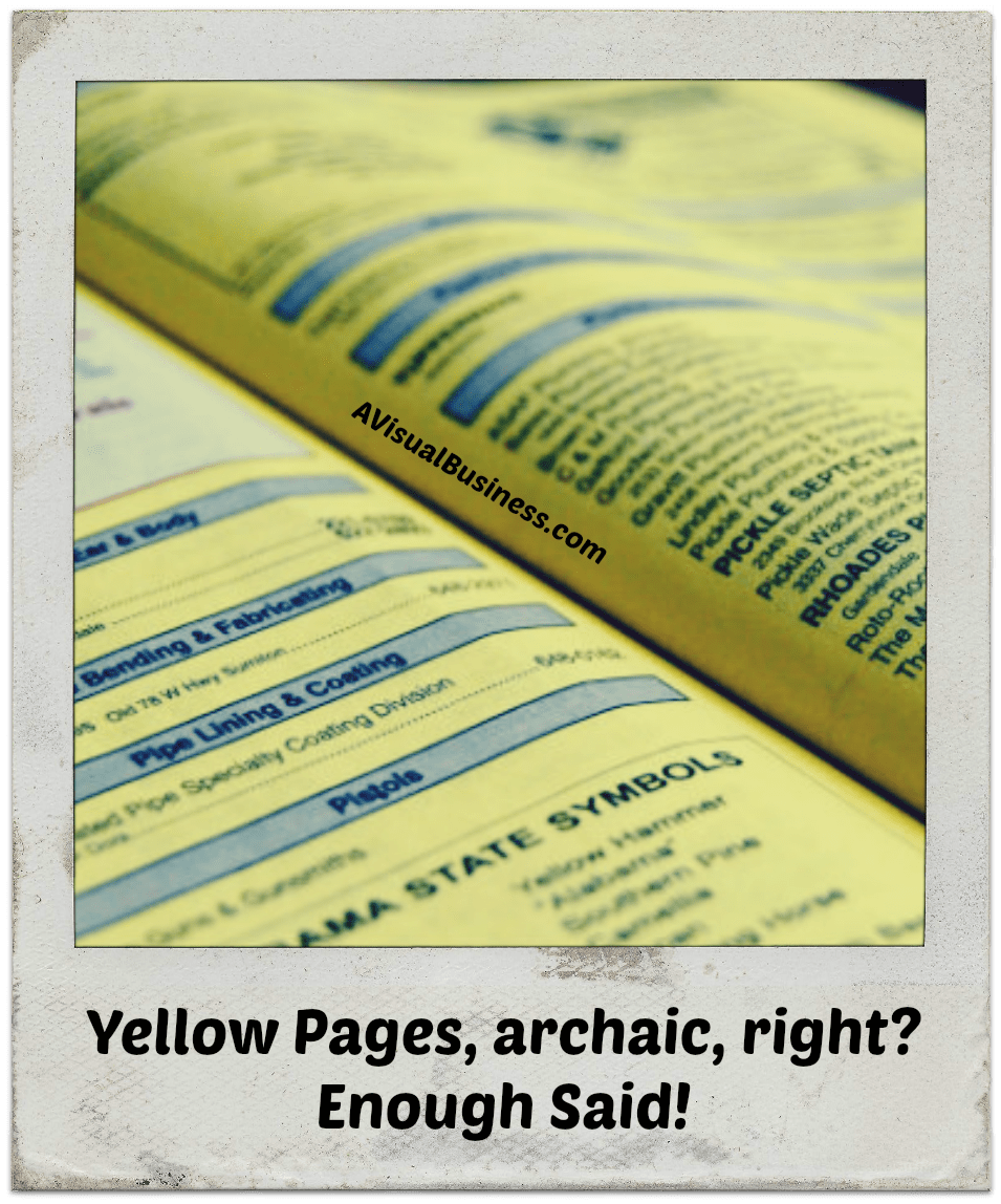 Can you pass me the Yellow Pages please?