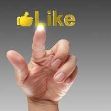 Hand giving a like