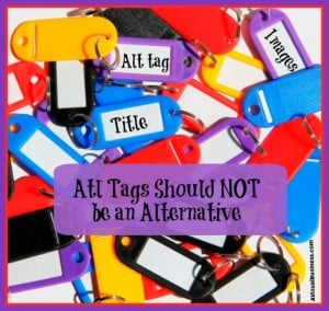 Take advantage of your alternative tags for seo value