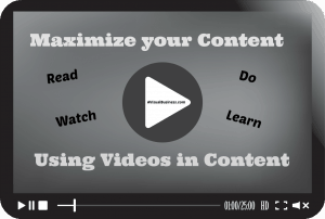 Maximize your content with videos and visuals