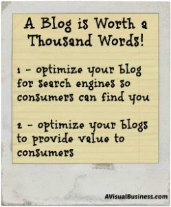 Optimize your blog to provide value and to get found in search