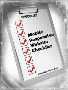 Mobile responsive website checklist for small business owners