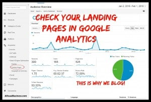 This is why we blog - check out your landing pages in Google!
