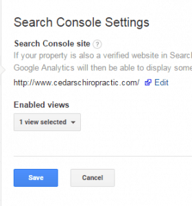 Finally set up in Search Console End Result