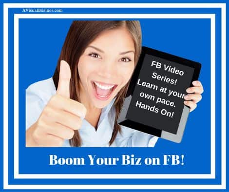 Learn how to Boom your biz on Facebook with this DIY video series