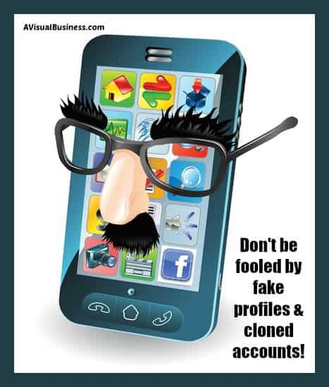 Don't be fooled by fake profiles. Follow these tips!