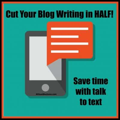 Cut Your Blog Writing in HALF with this One Tip!