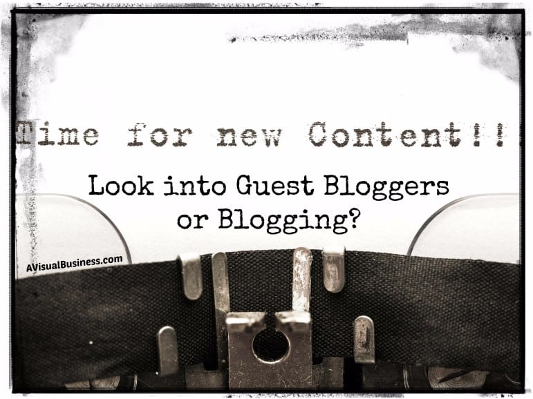 Look into guest bloggers or blogging for new content