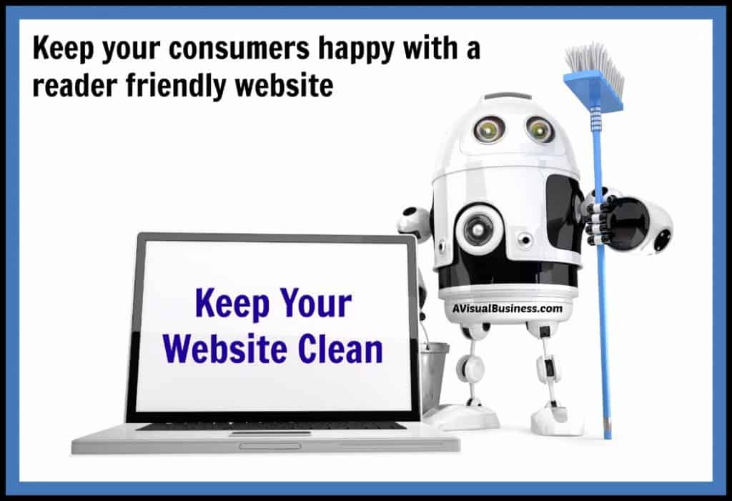 Keep your consumers happy with a reader friendly website