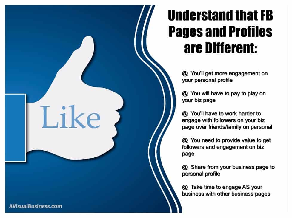 Know there are difference and make use of your FB Business Page