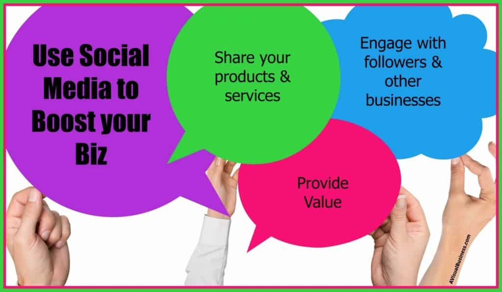 Provide value, share products and engage on social media