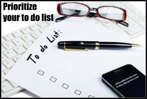 Prioritize your to do list