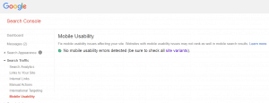 Google search console and your website mobile usability