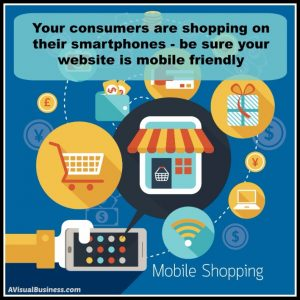 Consumers shop on mobile devices, be sure your website is mobile friendly