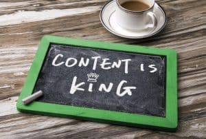 content is king - your blog has valuable content