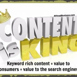 Keyword rich content equals value to the consumer AND to search engines