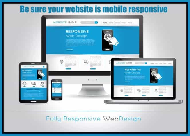 Review your website for mobile responsiveness