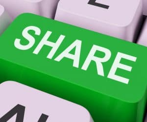 The key is to make sure your content is shareable