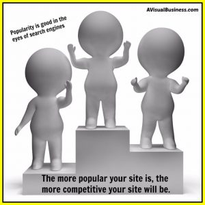 Being competitive, thanks to popularity is great for SEO and search results