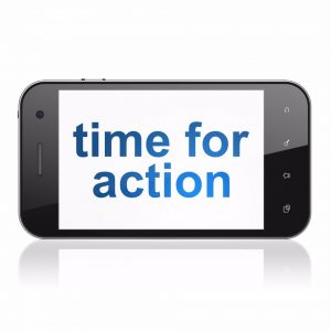 provide a call to action for readers on your website