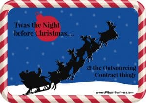 Christmas outsourcing contract poem