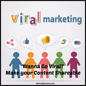 Want to go viral. Be sure your content is shareable
