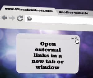 open external links in another window to keep users on your website