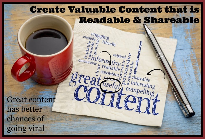 Create content that others will want to read, comment and share - be sure your blog can do it too