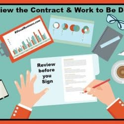 Be sure you understand the contract and work to be done