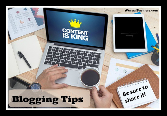 Content is King but only is someone can see your content - be sure to SHARE it