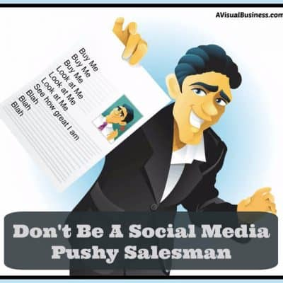 Don't Be a Social Media Salesman!