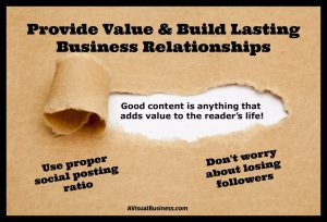 You won't lose your social media followers if you provide value!