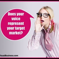 Be sure your voice represents your target market appropriately