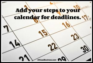 Plan your goals into your weekly and monthly calendar for success