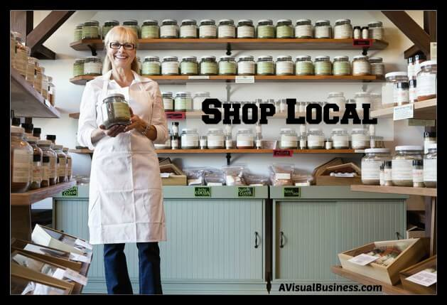 support local businesses and shop local