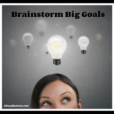 Brainstorm by yourself or with others for your business goals
