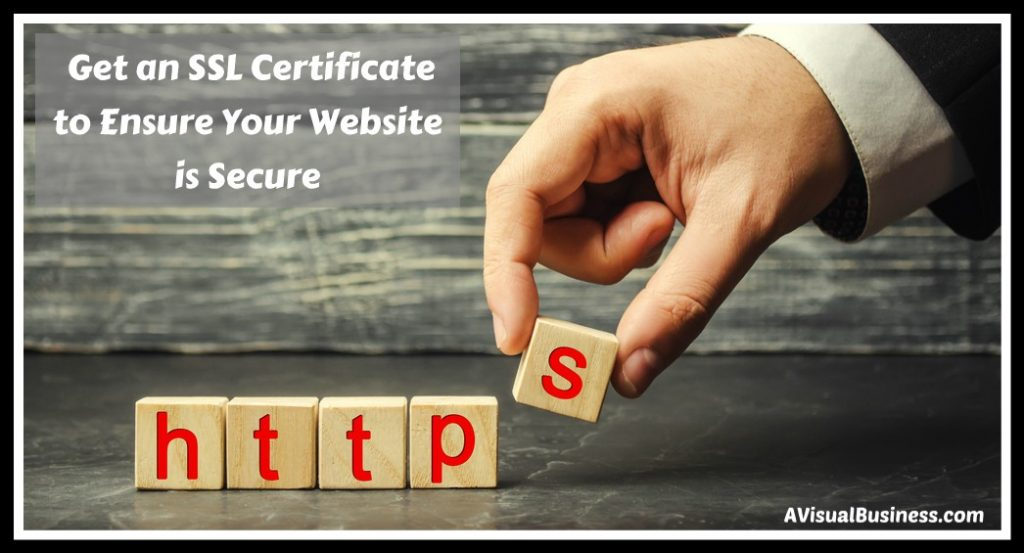 Have a secure website so consumers won't be met with a security warning