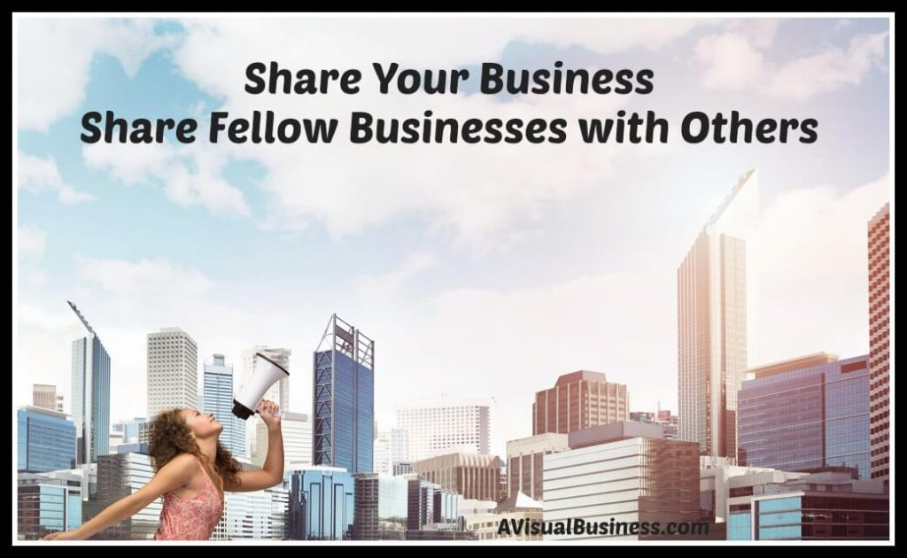 Share businesses with others to help small businesses grow