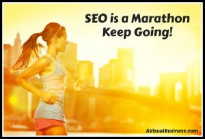 SEO is like a marathon, you are in it for the long haul, so just keep going